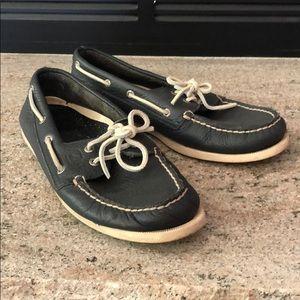 Men's 9.5 Blue leather sperrys